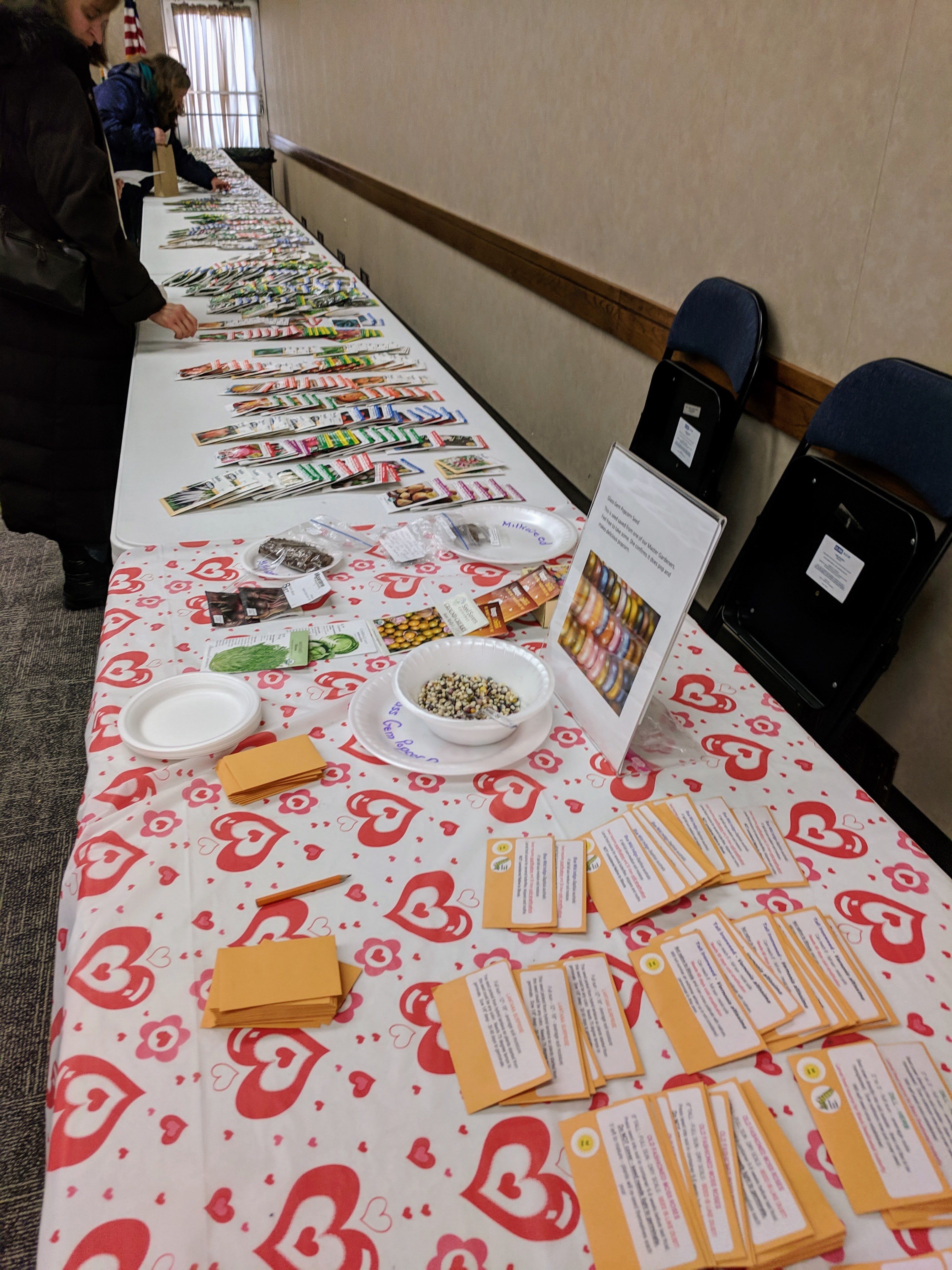 Table at Will County Extension Seed Swap
